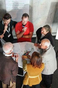 One of the small discussion panels in the afternoon workshops
