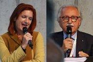 Collage of speakers, showing Regina Rauch-Krainer and Raffaele Caltabiano